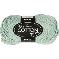 Pelote de fil de coton, dim. 8/4, L: 170 m, vert menthe, 50 gr/ 1 boule