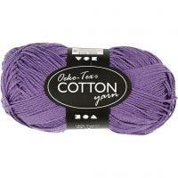 Pelote de fil de coton, dim. 8/4, L: 170 m, violet, 50 gr/ 1 boule