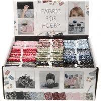 Tissu patchwork, dim. 44x55 cm, 100 gr, couleurs assorties, 48 boule/ 1 Pq.