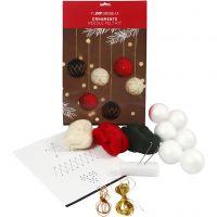 Boules de Noël, d: 6 cm, 6 pièce/ 1 Pq.