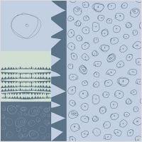 Tissu, L: 145 cm, 140 gr, bleu, 1 par m