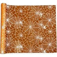 Chemin de table, L: 3,5 m, L: 29 cm, orange, 1 rouleau