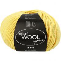 Pelotes de laine, L: 125 m, jaune, 100 gr/ 1 boule