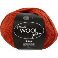 Pelotes de laine, L: 125 m, rust red, 100 gr/ 1 boule