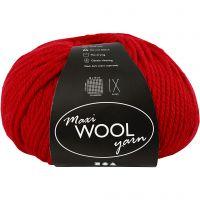 Pelotes de laine, L: 125 m, rouge, 100 gr/ 1 boule