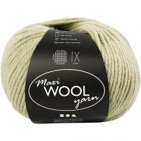 Pelotes de laine, L: 125 m, vert clair, 100 gr/ 1 boule