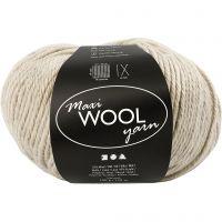 Pelotes de laine, L: 125 m, mix beige, 100 gr/ 1 boule