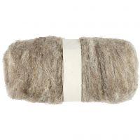 Pelote de laine cardée, naturel, 100 gr/ 1 boule