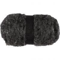 Pelote de laine cardée, natural grey, 100 gr/ 1 boule