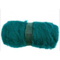 Pelote de laine cardée, vert, 100 gr/ 1 boule