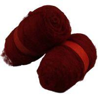 Laine cardée, warm red, 2x100 gr/ 1 Pq.