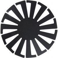 Forme tissage panier, H: 6 cm, d: 8 cm, noir, 10 pièce/ 1 Pq.