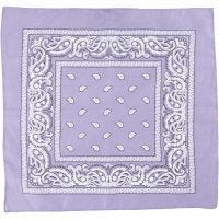 Bandana imprimé, dim. 55x55 cm, violet, 1 pièce