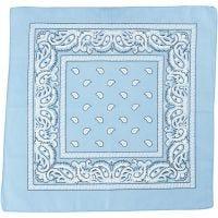 Bandana imprimé, dim. 55x55 cm, bleu clair, 1 pièce