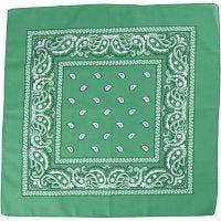 Bandana imprimé, dim. 55x55 cm, vert foncé, 1 pièce