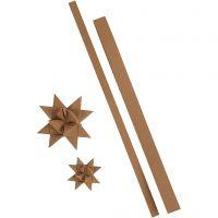 Bandes de papier étoiles, L: 44+78 cm, L: 15+25 mm, 350 gr, naturel, 24 bandes/ 1 Pq.