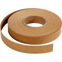 Bandes de tressage, L: 15 mm, ép. 0,55 mm, brun clair, 9,5 m/ 1 rouleau