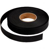 Bandes de tressage, L: 15 mm, ép. 0,55 mm, noir, 9,5 m/ 1 rouleau
