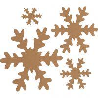 Flocon de neige, d: 3+5+8+10 cm, 350 gr, naturel, 16 pièce/ 1 Pq.