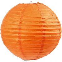 Abat-jour en papier, d: 20 cm, orange, 1 pièce