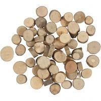Disque en bois, d: 10-15 mm, 25 gr/ 1 Pq.