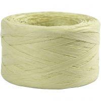Fil de raphia, L: 7-8 mm, vert clair, 100 m/ 1 rouleau
