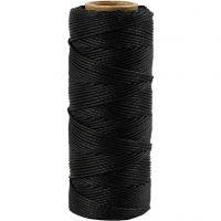 Fil de bambou, ép. 1 mm, noir, 65 m/ 1 rouleau