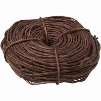 Corde de maïs, L: 3,5-4 mm, brun, 300 gr/ 1 boule