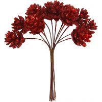 Pommes de pin artificielles, d: 20 mm, rouge cerise, 12 pièce/ 1 Pq.