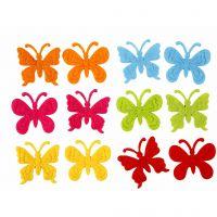 Papillons en feutre, dim. 3 cm, ép. 1,5 mm, 160 pièce/ 1 Pq.