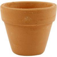 Pots de fleurs, H: 6,5 cm, d: 7 cm, 24 pièce/ 1 boîte