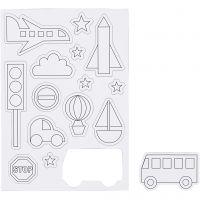 Aimants, Transportation, dim. 14,85x21 cm, 1 flles