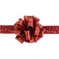 Ruban Susifix, L: 18 mm, or, rouge, 5 m/ 1 rouleau