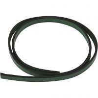 Ceinture type cuir, L: 10 mm, ép. 3 mm, vert, 1 m/ 1 Pq.