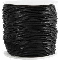 Ficelle de coton, ép. 0,6 mm, noir, 100 m/ 1 Pq.