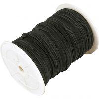 Cordon imitation daim, ép. 3 mm, noir, 100 m/ 1 rouleau
