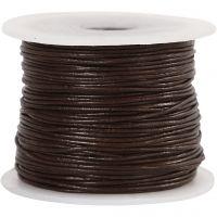 Cordon de cuir, ép. 1 mm, brun, 50 m/ 1 rouleau