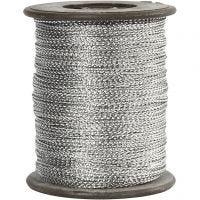 Fil, ép. 0,5 mm, argent, 100 m/ 1 rouleau