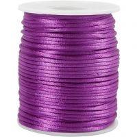 Cordon en satin, ép. 2 mm, violet, 50 m/ 1 rouleau