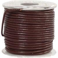 Cordon de cuir, ép. 1 mm, brun, 10 m/ 1 rouleau