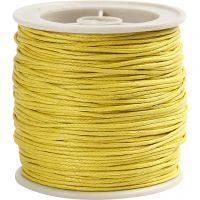 Ficelle de coton, ép. 1 mm, jaune, 40 m/ 1 rouleau