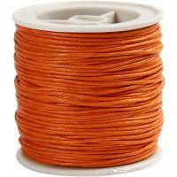 Ficelle de coton, ép. 1 mm, orange, 40 m/ 1 rouleau