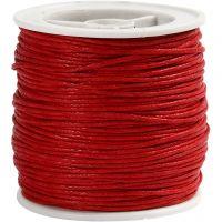 Ficelle de coton, ép. 1 mm, rouge, 40 m/ 1 rouleau