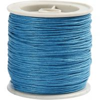 Ficelle de coton, ép. 1 mm, turquoise, 40 m/ 1 rouleau
