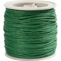 Ficelle de coton, ép. 1 mm, vert, 40 m/ 1 rouleau