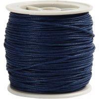 Ficelle de coton, ép. 1 mm, bleu, 40 m/ 1 rouleau