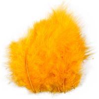 Plumes , dim. 5-12 cm, jaune, 15 pièce/ 1 Pq.