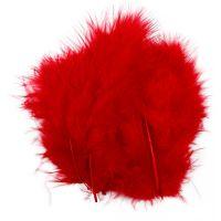Plumes , dim. 5-12 cm, rouge, 15 pièce/ 1 Pq.