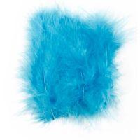 Plumes , dim. 5-12 cm, turquoise, 15 pièce/ 1 Pq.