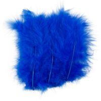 Plumes , dim. 5-12 cm, bleu, 15 pièce/ 1 Pq.